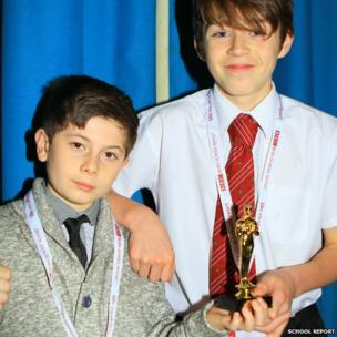 Ben and Luca from Wrenn School