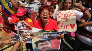 Supporters of Hugo Chavez