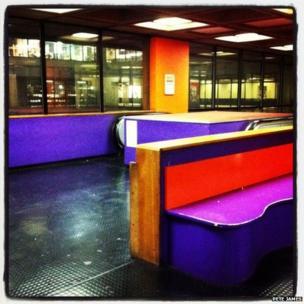Escalators in the library