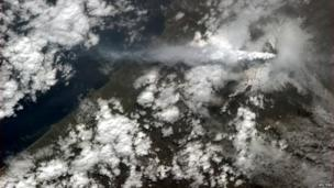 Mount Etna pictured from space.