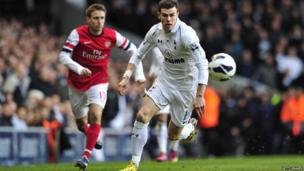 Gareth Bale on pitch