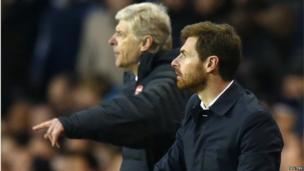Arsenal boss Arsene Wenger and Spurs boss Andre Villas-Boas