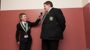 School Reporter interviews a fellow student!
