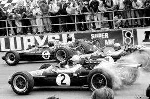 The start of the 1967 British Grand Prix at Silverstone
