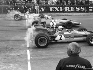 The start of the 1969 British Grand Prix at Silverstone