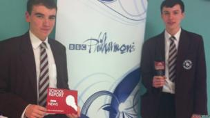 Martin and Daniel from Alsager School
