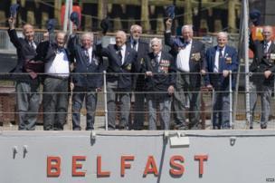 HMS Belfast veterans on board HMS Belfast