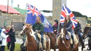 Celebrations on the Falkland Islands