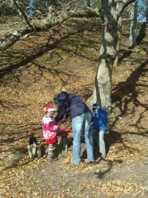 Mum and children