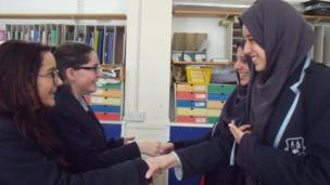 King David pupils meet the Manchester Islamic School for Girls students