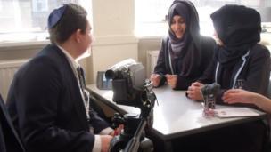 Ben intervews two Manchester Islamic Girls School students