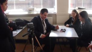 Ben interviews King David students