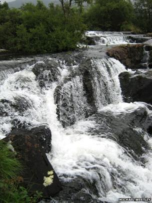 Waterfalls on the Nantcol river