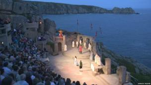 A recent performance at the Minack Theatre
