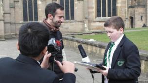 School Reporters interviewed Dan about acting in Shakespearean plays