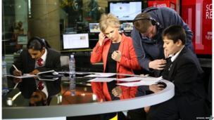School Reporters on the BBC Sport Centre