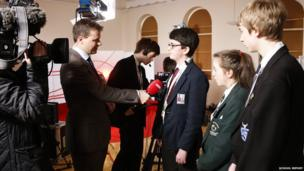 School Reporters Derry/Londonderry live on BBC Foyle