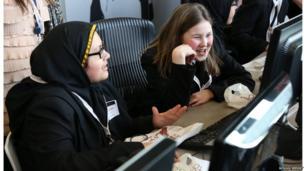 School Reporters working as newsgatherers