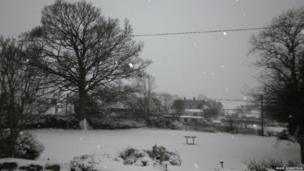 Another picturesque snow scene taken at Rhes y Cae near Holywell in Flintshire
