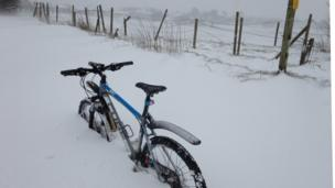Bike in snow