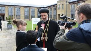 The students enjoyed meeting people from all the different faiths