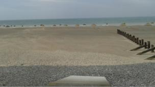 Sand hills on Barmouth beach, Gwynedd