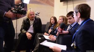 Lincoln Castle Academy interview Richard Branson