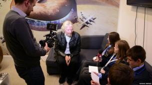 Lincoln Castle Academy with Richard Branson