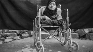 Alia, 24, in Domiz refugee camp in Iraqi Kurdistan