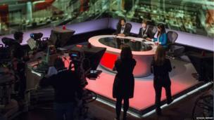 School Reporters film live reports