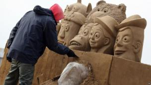 Weston Sand Sculptures, Easter 2013