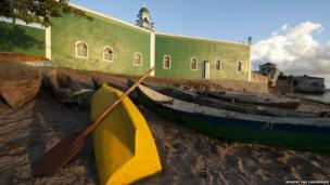 Mozambique has long historic ties with the Muslim world. Today, Muslims account for nearly a fifth of the population. This mosque is on Ilha do Mocambique, an island off the northern Mozambican coast.