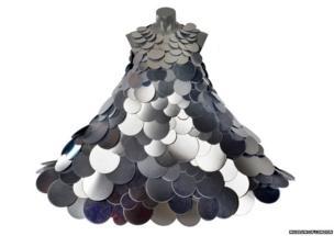 A mirrored dress