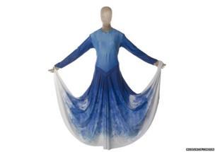 A multi shaded blue dress