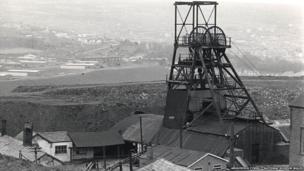 Big Pit in Blaenavon, pictured in 1975