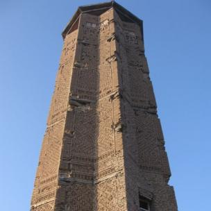 The 12th century minaret of Bahram Shah