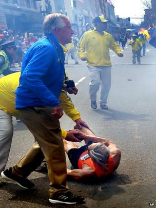 Second blast at the Boston Marathon