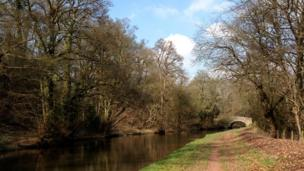 Monmouthshire and Brecon Canal near Pencelli, Powys