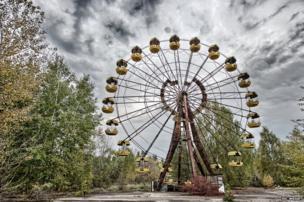 The Ferris wheel in central Pripyat