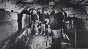 An underground tour at Big Pit in 1983