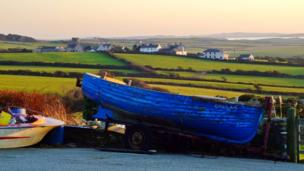 Boats on the road, Anglesey