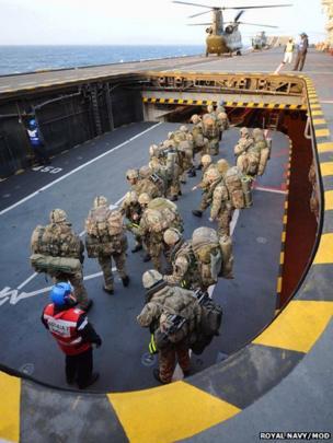 Royal Marines on HMS Illustrious