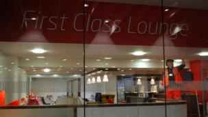 The redeveloped station's First Class Lounge
