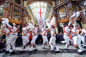 A group of Morris Dancers