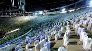 Picture of the Maracana football stadium in Rio de Janeiro, Brazil taken on March 27, 2013