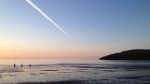 Newport beach, Pembrokeshire.