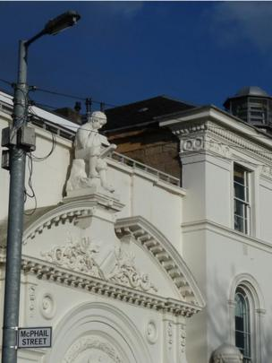 Masonry on a building