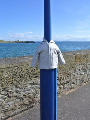 Jacket on a lamp post