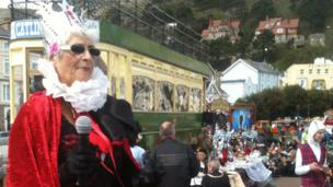 Mo Hughes dressed up as the Queen of Hearts, 3 May 2013