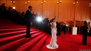 Actress Rooney Mara arrives at the Metropolitan Museum of Art Costume Institute Benefit